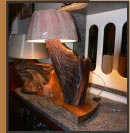 Indigenous Wood Lamp Light